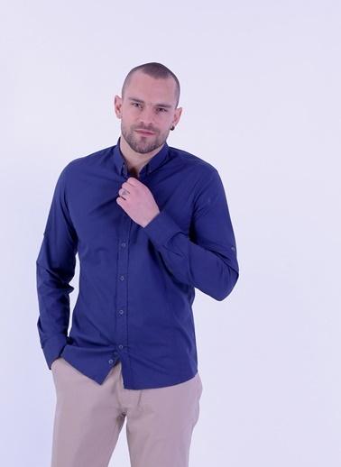 Uzun Kollu Slim Fit Gömlek-Cazador